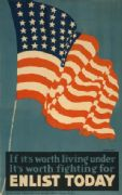 Vintage American WW1 Enlisting Poster